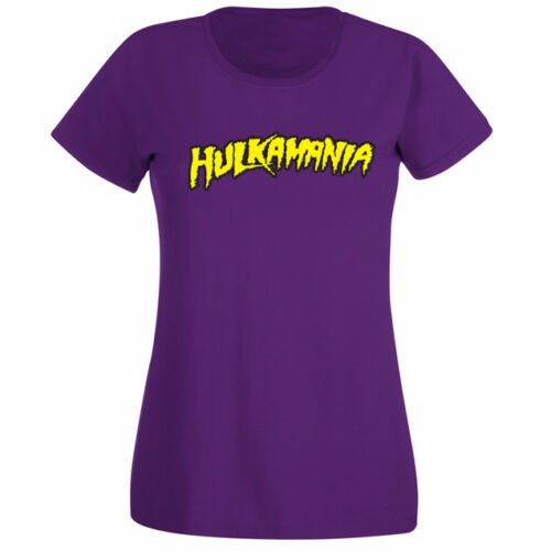Womens Hulkamania Wrestling T-shirt NEW UK 6-18