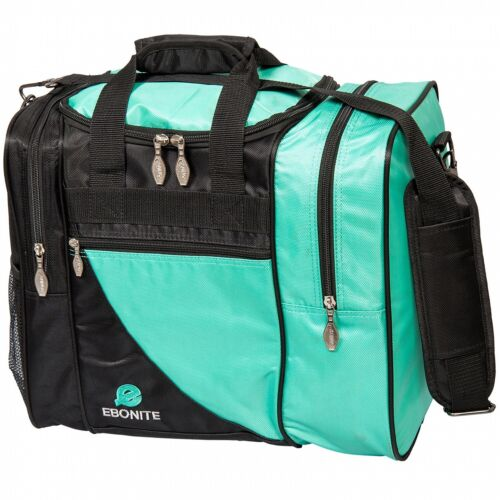 Teal//Black Ebonite Impact Single Ball Tenpin Bowling Ball Tote Bag