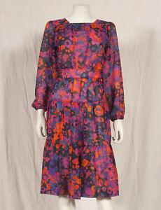 034-annees-70-francais-vintage-imprime-robe-de-soiree-UK-6-8