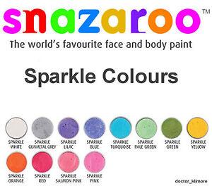 Snazaroo-Sparkle-Face-Body-Paint-Fancy-Dress-18ml-Make-Up-12-Sparkle-Colours
