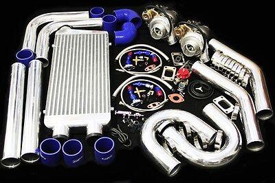 UNIVERSAL DIY CUSTOM T3/T4 TWIN TURBO CHARGER PIPING KIT 800HP FOR V6 V8 V10
