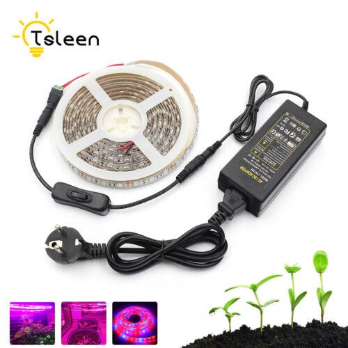 LED Plant Light Strip DC12V Power Adapter 3Red:1Blue For Flower Growth Lamp 968