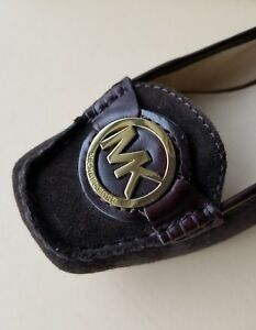 MICHAEL-KORS-HAMILTON-DRIVER-MK-GOLD-LOGO-COFFEE-SUEDE-MOCCASSINS-I-LOVE-SHOES