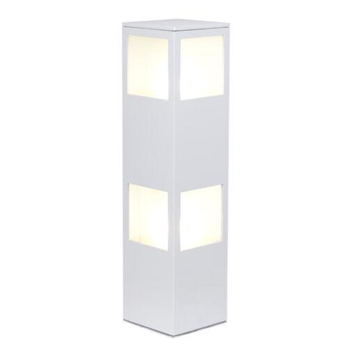 Außen Sockelleuchte Varus Standlampe 2x E27 Außenleuchte weiß Eckige Stehlampe