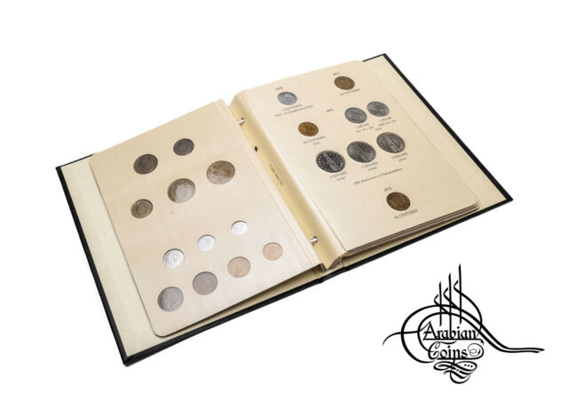 Algeria 1949-1989 Coin Album 1950 1952 1956 1964 1970 1971 1972 1973 1974 1975