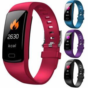 Bluetooth Smartwatch Uhr Armband Herzfrequenz Blutdruckmessgerät Fitness Tracker