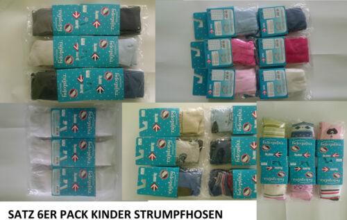 SATZ 6 Stück 6ER PACK STRUMPFHOSE Baby Kinder Mädchen Baumwolle JUNGEN Gr.62-146