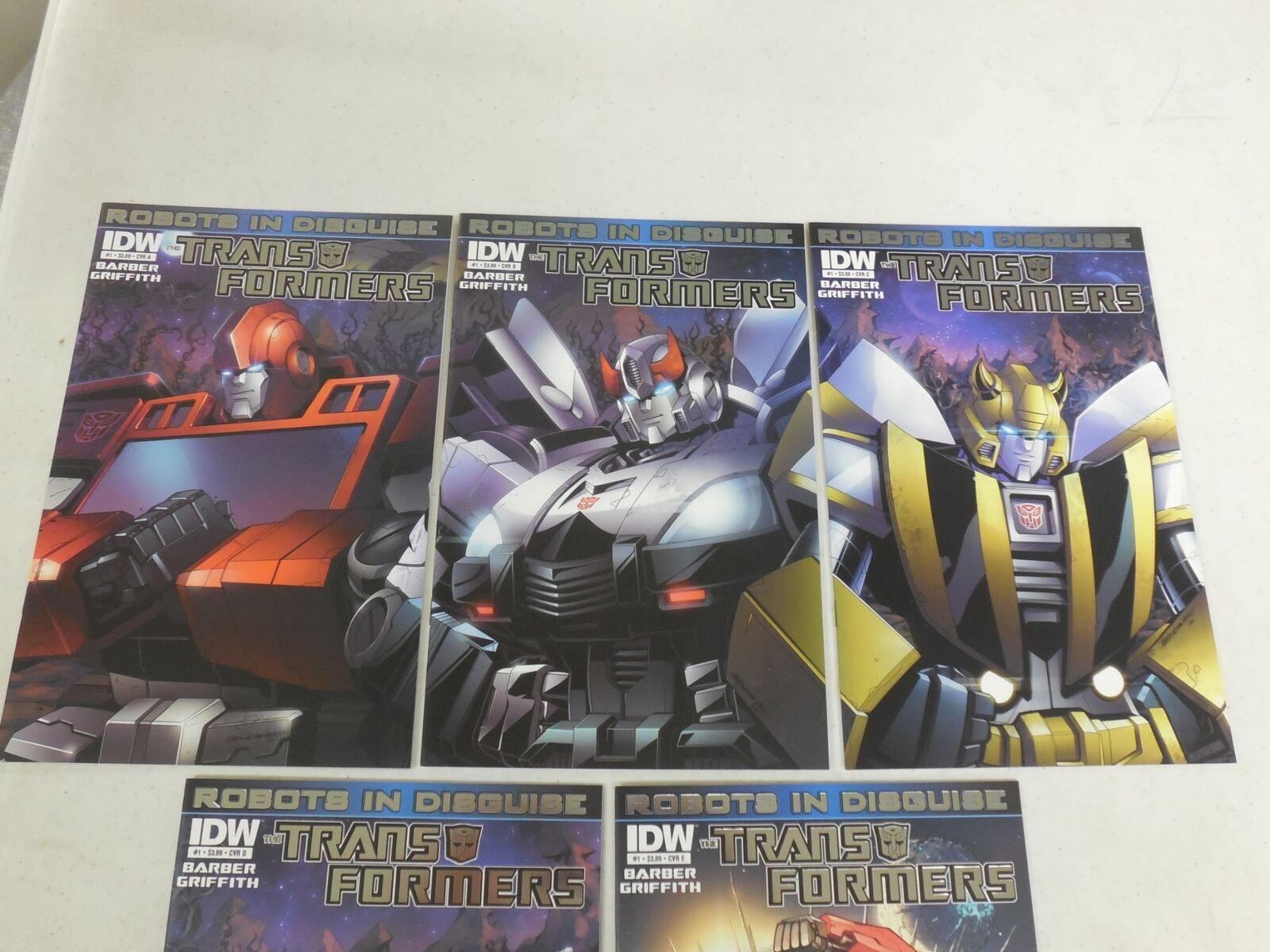 5x 2012 TRANSFORMERS Robots In Disguise Comic VARIANT SET A A A B C D E  RID NM 06b6ac