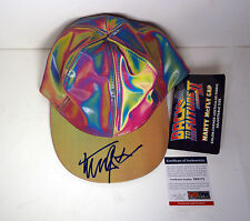 MICHAEL J FOX BACK TO THE FUTURE SIGNED AUTOGRAPH MARTY MCFLY HAT PSA/DNA COA