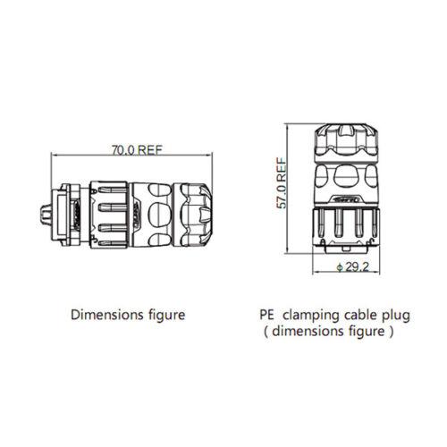 CNLINKO 2 Pin Power Signal Circular Connector Male Plug Waterproof Outdoor IP67