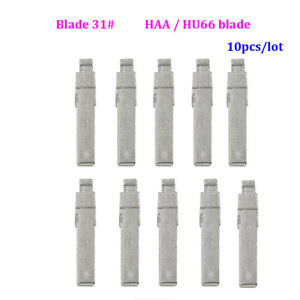 10pcs/lot Flip Universal Hu66 Haa Blade 31# For Vw Passat Bora Skoda Audi Seat
