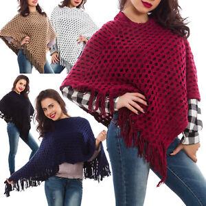 Poncho-mujer-bolero-capa-tejido-de-punto-sueter-calido-nuevo-chal-KK3062