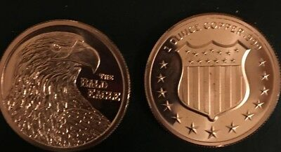 Steady Bald Eagle 1 Oz .999 Copper Bullion Rounds Coins Blowout Sale Cheap Ture 100% Guarantee 1