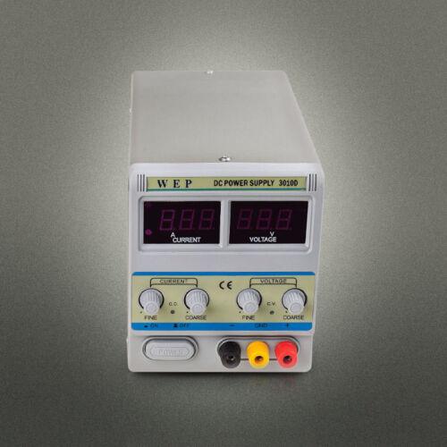 Regelbar Trafo Netzteil Netzgerät Labornetzteil Digitalanzeige 0-30V 10A 0-15V
