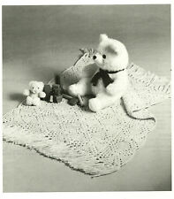 Granny Squares Baby Blanket Afghan Crochet Pattern pages from a publication c