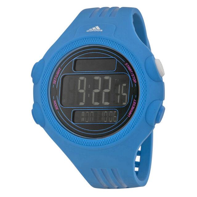 Adidas Performance Questra XL Digital Dial Blue Polyurethane Unisex Watch