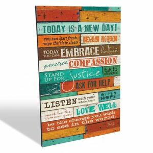 Wood Wall Art Inspirational Quotes Today Is A Day 12 X 16 Inches Home Office