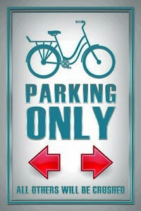 Parking-Only-Velo-Panneau-Metallique-Plaque-Voute-Etain-Signer-20-X-30-cm-CC1022