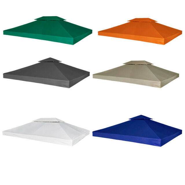 Gazebo Cover Canopy Replacement Tent 310 g / m² Muti-sizes Roof Top  Waterproof