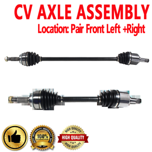 Details about PAIR FRONT LEFT & RIGHT CV DRIVE AXLE SHAFT ASSEMBLY For  MITSUBISHI LANCER