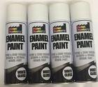 Enamel White Gloss Paint Spray Aerosol 250ml Radiator Metal Wood