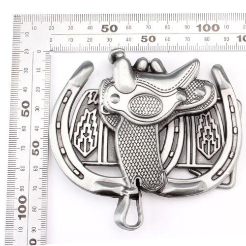 """Vintage Cowboy West Style 3D Patterns Zinc Alloy Pin Buckle For 1.5/"""" Belt UK"""