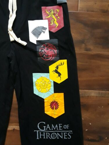 Seven Fealty Houses Pajama Lounge Pant Men Medium Official HBO Game of Thrones