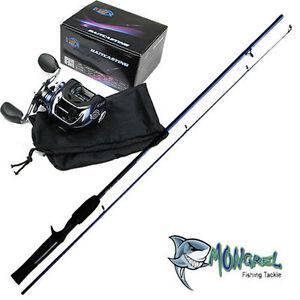 NEW-Bait-caster-Rod-amp-Reel-Combo-1-7-meter-rod-BaitCaster-line-spooler-deal