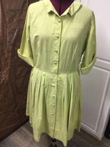 Vintage 1950s/1960s Gingham Shirtwaist Dress XL Ro