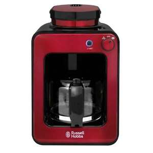 Details About Russell Hobbs Rh G6686 Built In Grinder Coffee Maker Permanent Filter Red New