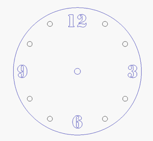 Round-acrylic-Clock-18-colour-choices-small-or-large