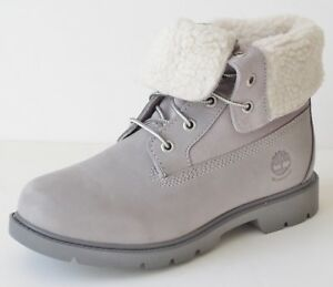 6b09eadb9b Image is loading Timberland-Womens-Linden-Woods-Waterproof-Fold-Down-Teddy-