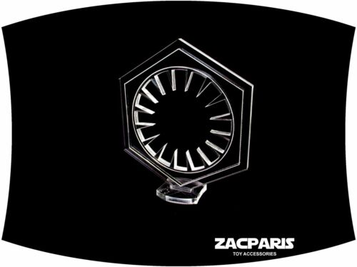 Choose from Clear or Black acrylic First Order Emblem for displays very nice!