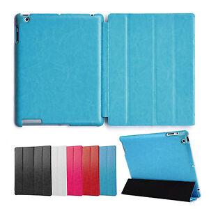 Deluxe-Huelle-iPad-2-3-4-Cover-Case-Schutz-Tasche-Etui-Aufstellbar-Staender-Blau