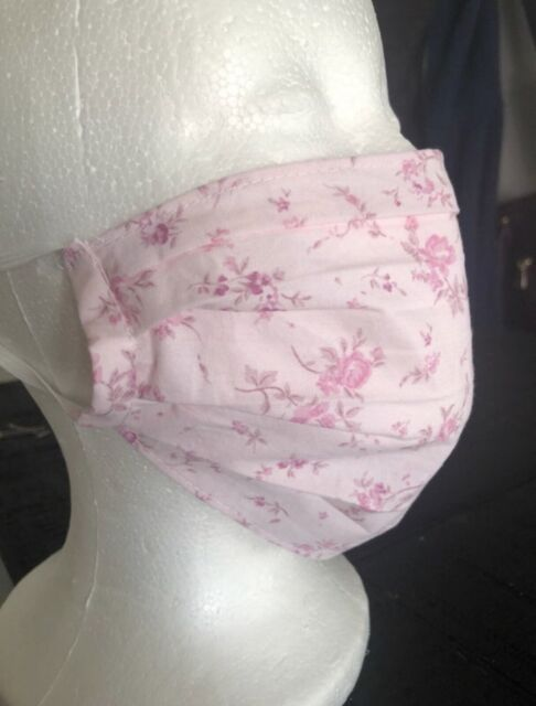 Rachel Ashwell Simply Shabby Chic Summer Pink Blush Floral Fabric Face Cover