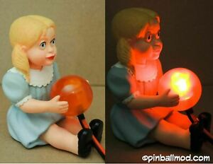 TWILIGHT-ZONE-PINBALL-TALKY-TINA-DOLL-MOD-lits-up-when-extra-ball-is