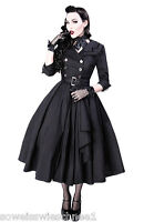Restyle Kleid Mantel Vintage Gothic Rockabilly Trenchcoat 50s Dress PinUp R22