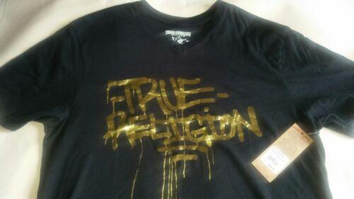 de True en shirt Religion doré v graffiti skateboard imprimé col à Noir Tee 0Urt0wnEq