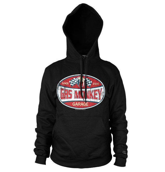 Officially Licensed Gas Monkey Garage Since 2004 Label Hoodie S-XXL Sizes