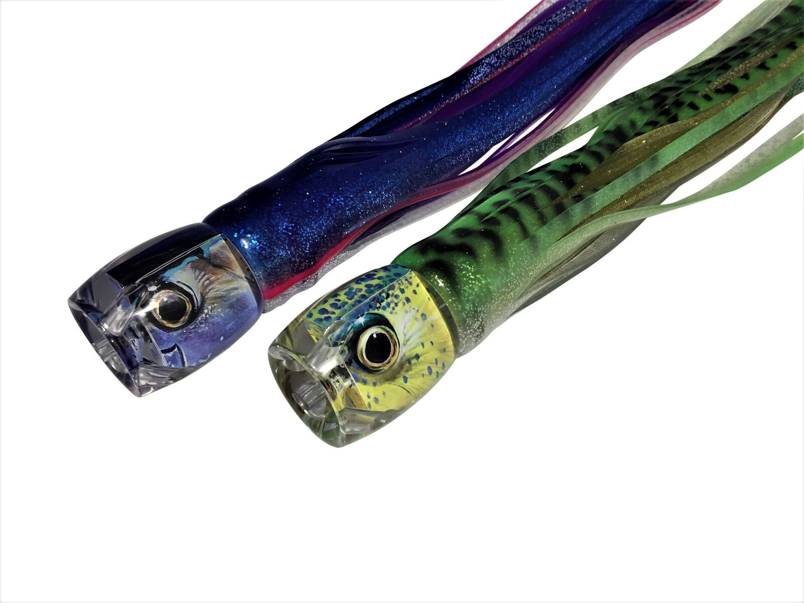 Daisy Chain Offshore Trolling Lure squid Tuna 9 inch rainbow with 12 chart mack