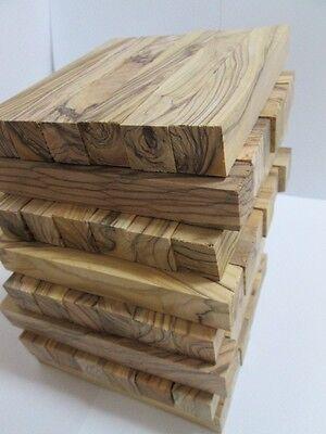 40 Extremely Figured 4 Sided /& Dark Grains Bethlehem Olive Wood Pen Blanks