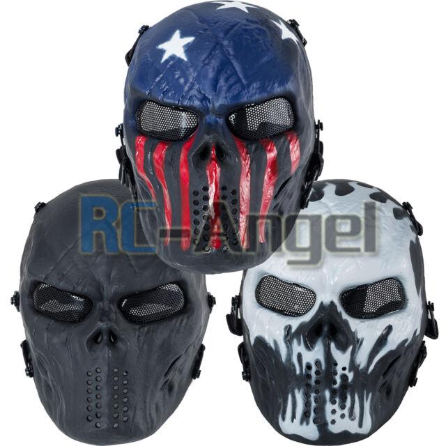 Airsoft Paintball Full Face Skull Skeleton CS Mask Tactical Military Halloween