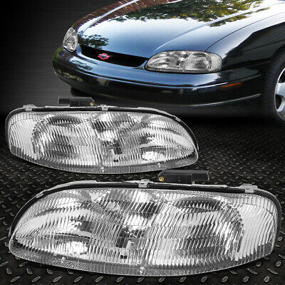 For 95 01 Chevy Lumina Monte Carlo Chrome Housing Clear Corner Headlight Lamps Ebay