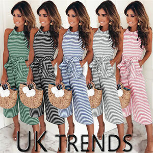 UK-Womens-Summer-Striped-Wide-Leg-Holiday-Jumpsuits-Playsuits-Culotte-6-16