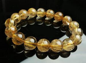 Huge-new-13-mm-Natural-Brazil-Gold-Rutilated-Quartz-Crystal-Beads-Bracelet-AAAA
