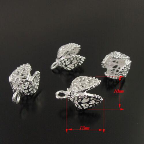 Antique Tone Brass Cute Flower Cap Charm Pendant Jewelry Finding Hot Sale