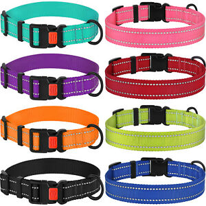 Reflective-Dog-Collar-Safety-Nylon-Collars-for-Dogs-Puppy-with-Buckle-S-M-L