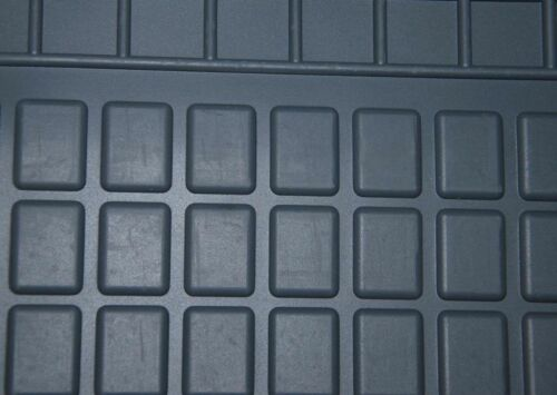 2007 zweite Reihe schwarz Automatten 5 Pers. Gummifussmatten Fiat Scudo ab Bj