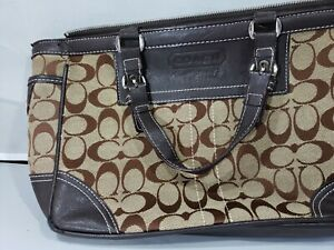 Details About Pre Owned Coach Handbag Brown Ling