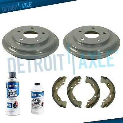 REAR Brake Drum Set for 2006-2015 Honda Civic 250mm Detroit Axle 9.84 250mm